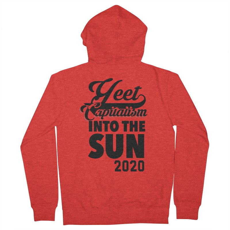 Yeet Capitalism Into The Sun on red Women's Zip-Up Hoody by eric cash