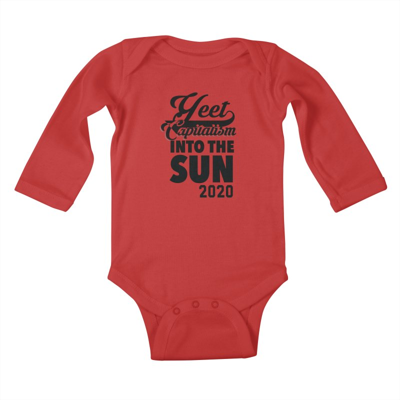 Yeet Capitalism Into The Sun on red Kids Baby Longsleeve Bodysuit by eric cash
