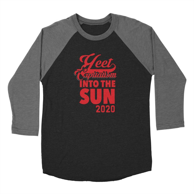 Yeet Capitalism Into The Sun on black Women's Longsleeve T-Shirt by eric cash