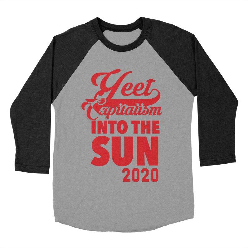 Yeet Capitalism Into The Sun on black Women's Baseball Triblend Longsleeve T-Shirt by eric cash