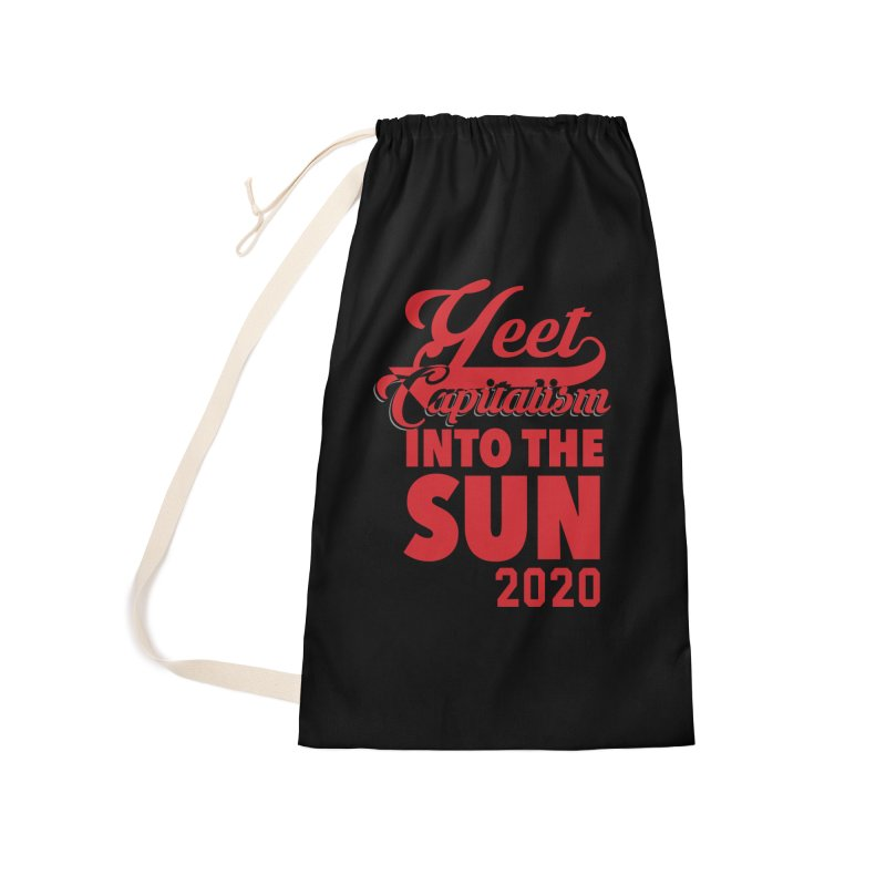 Yeet Capitalism Into The Sun on black Accessories Bag by eric cash