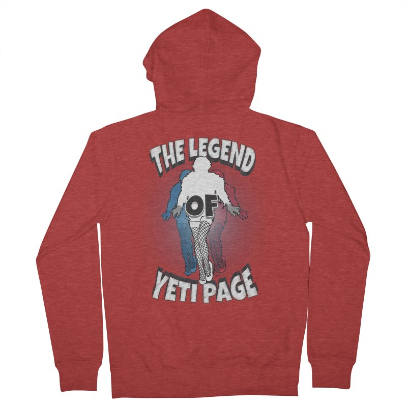 The Legend Of Yeti Page Men's French Terry Zip-Up Hoody by eric cash