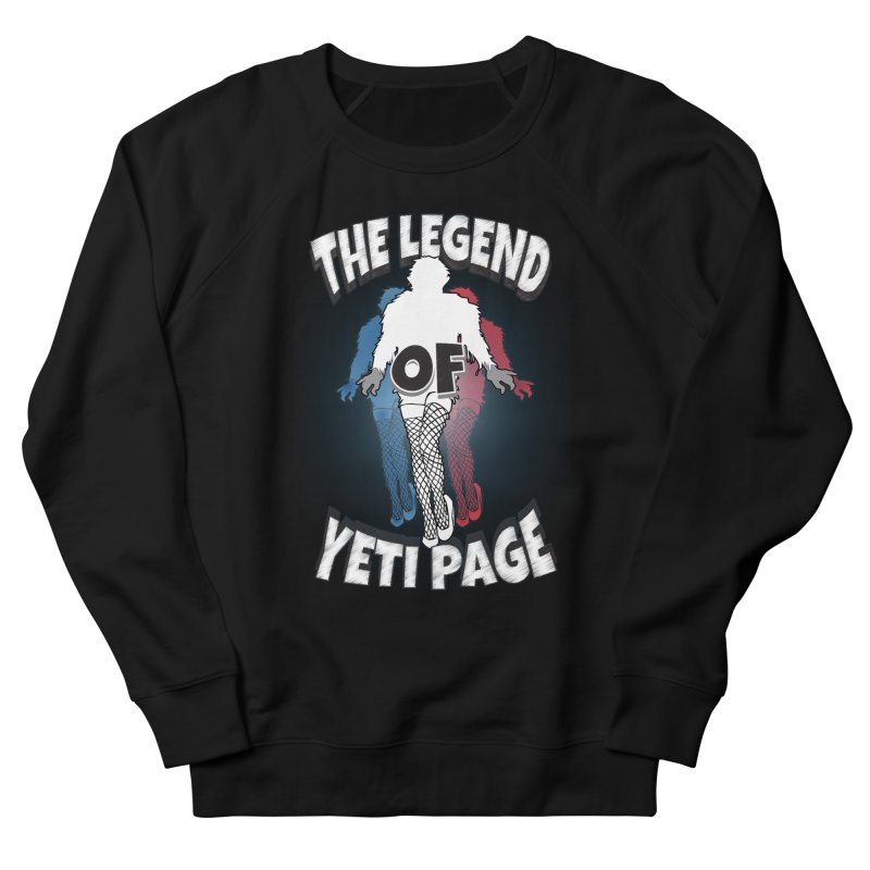 The Legend Of Yeti Page Men's French Terry Sweatshirt by eric cash