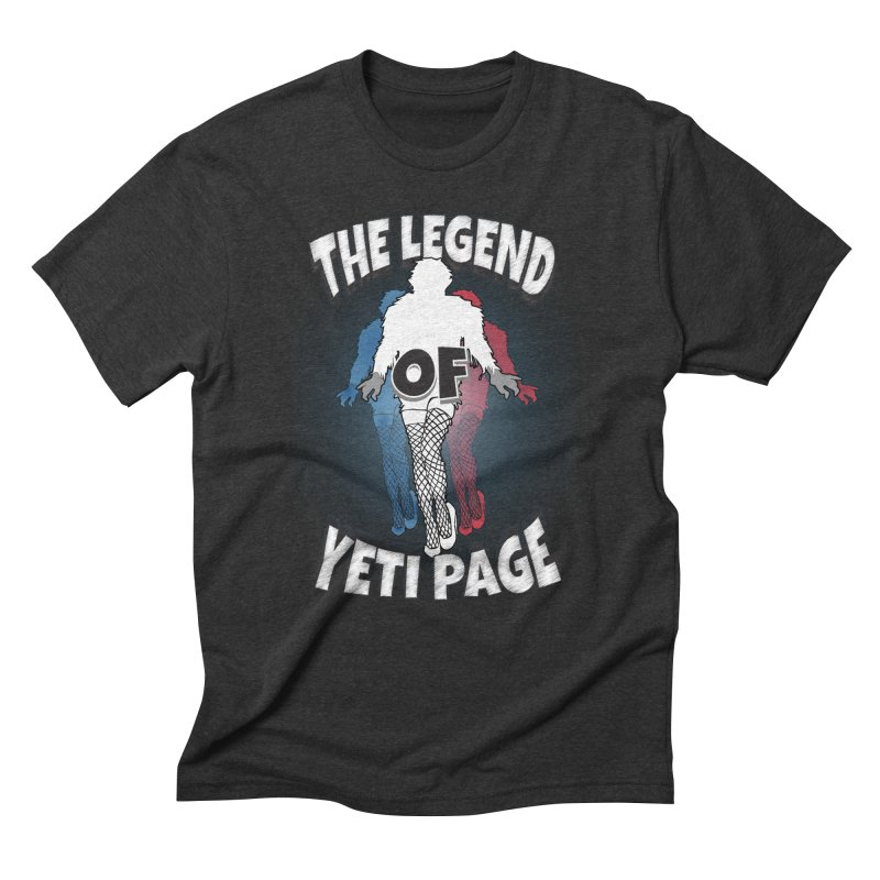 The Legend Of Yeti Page Men's Triblend T-Shirt by eric cash