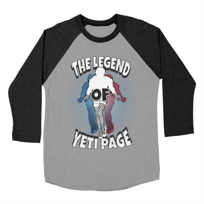 The Legend Of Yeti Page Women's Baseball Triblend Longsleeve T-Shirt by eric cash