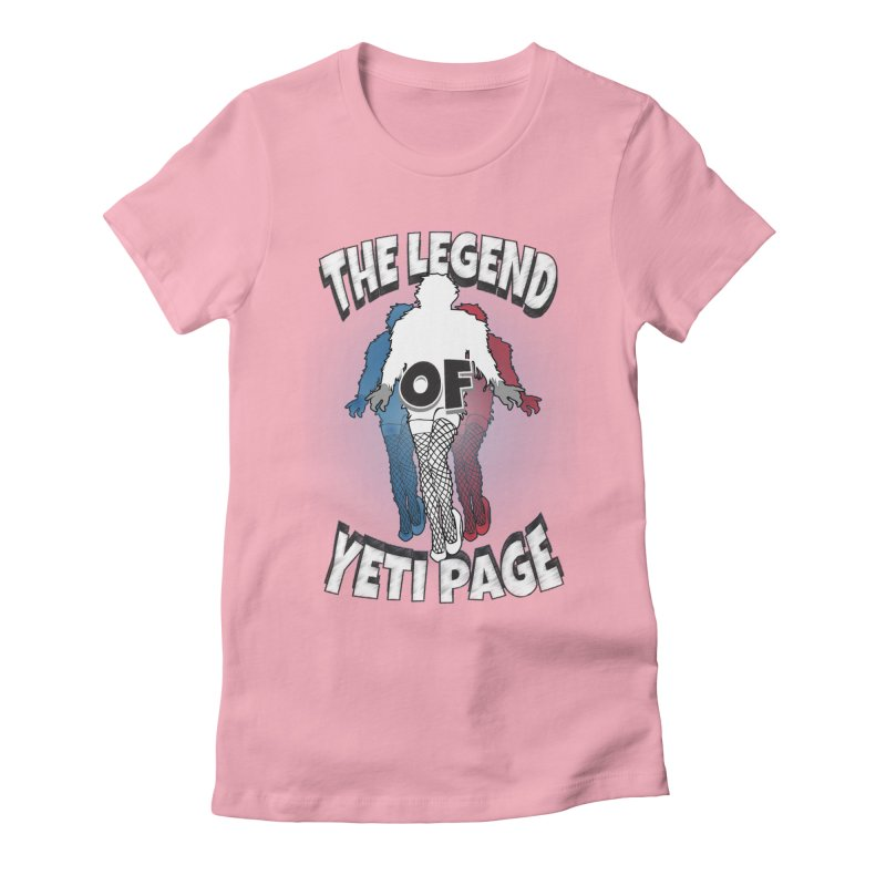 The Legend Of Yeti Page Women's Fitted T-Shirt by eric cash