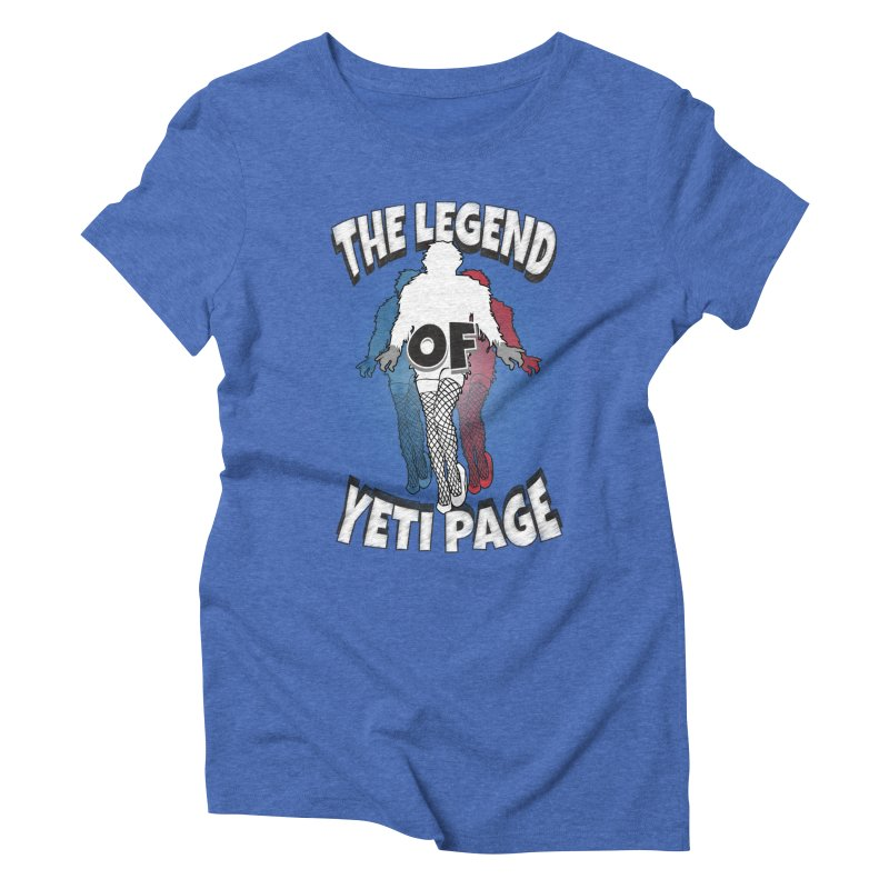 The Legend Of Yeti Page Women's Triblend T-Shirt by eric cash