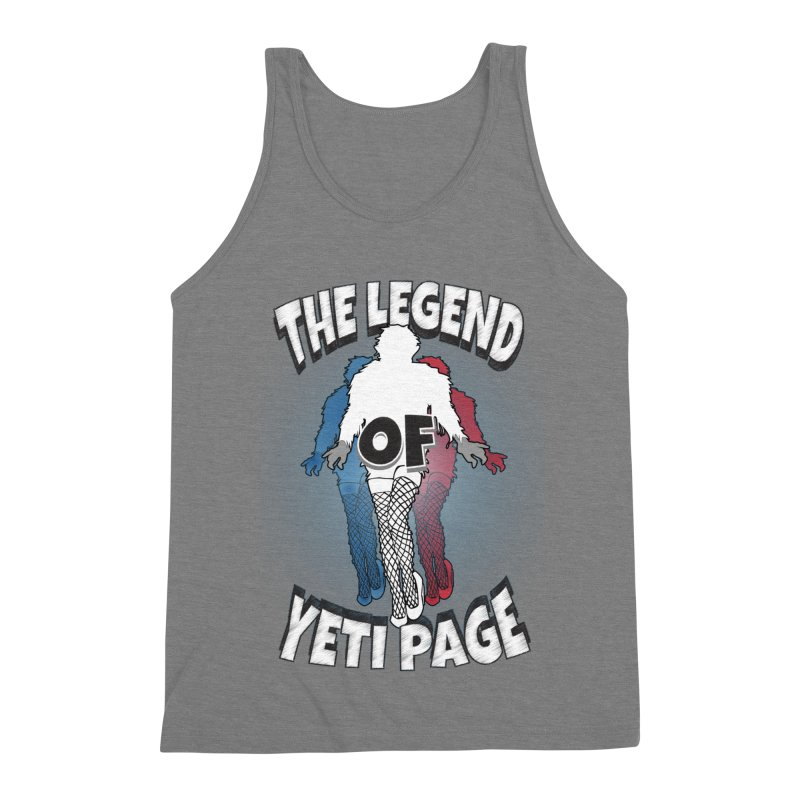 The Legend Of Yeti Page Men's Triblend Tank by eric cash