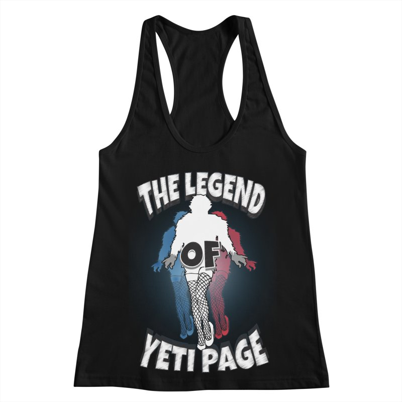 The Legend Of Yeti Page Women's Racerback Tank by eric cash