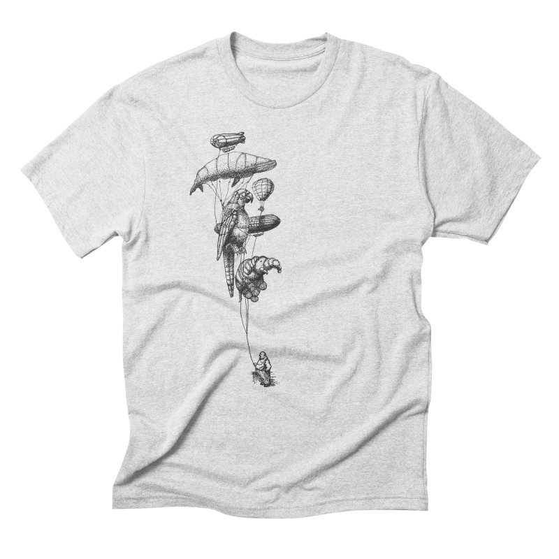 The Balloon Menagerie in Men's Triblend T-Shirt Heather White by ericfan's Artist Shop