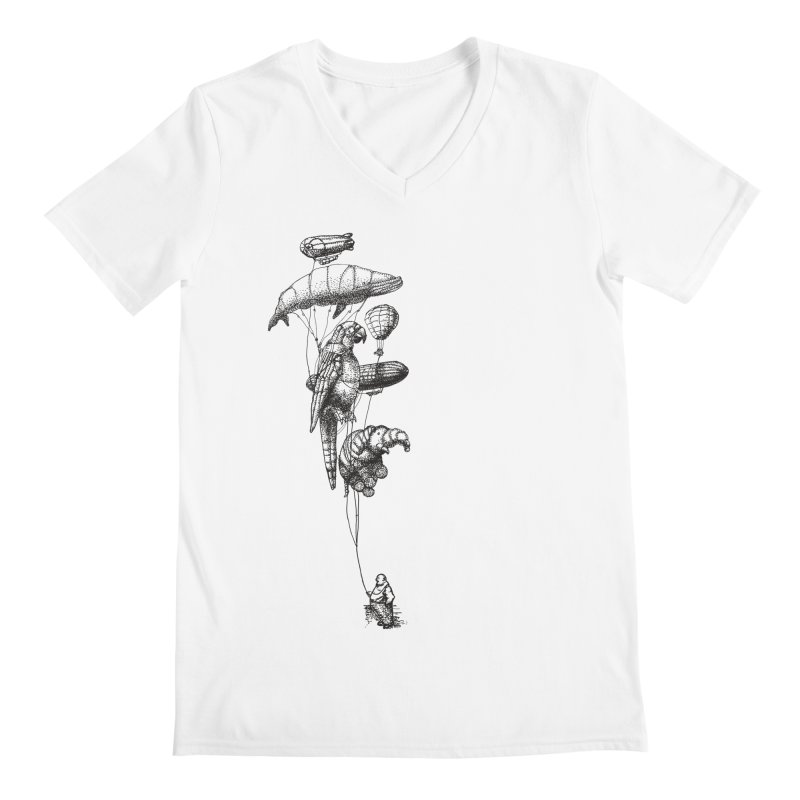 The Balloon Menagerie Men's V-Neck by ericfan's Artist Shop