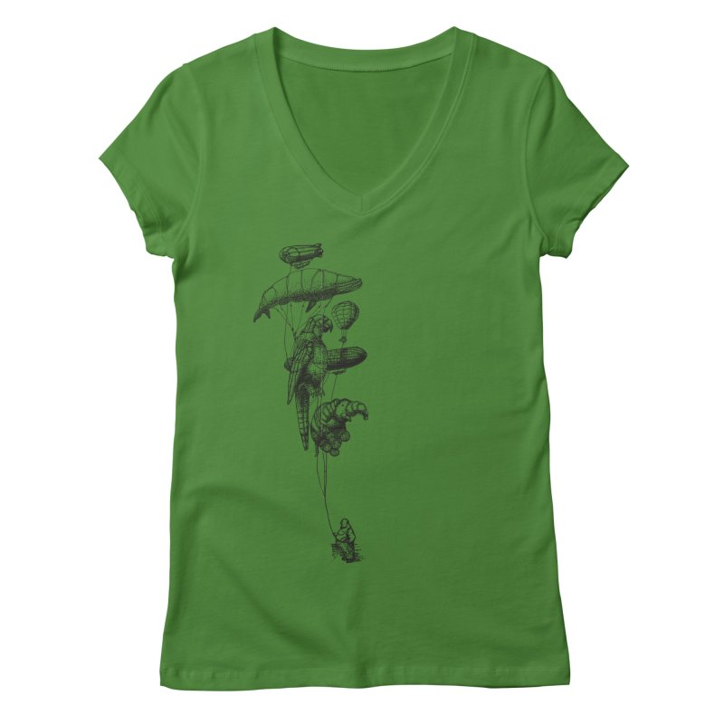 The Balloon Menagerie Women's V-Neck by ericfan's Artist Shop