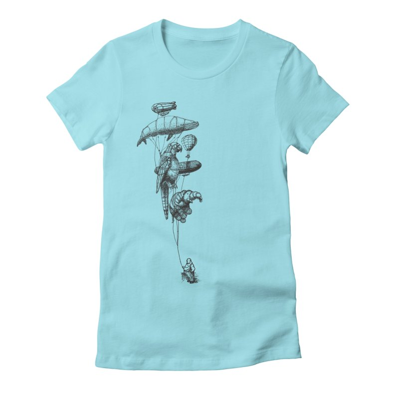 Balloon Menagerie Women's Fitted T-Shirt by ericfan's Artist Shop