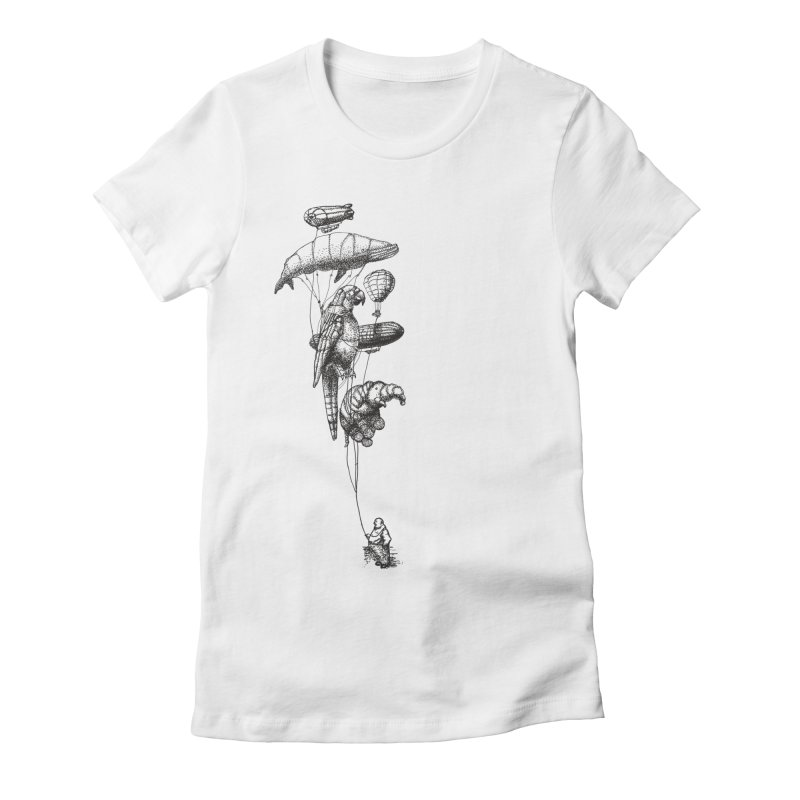 The Balloon Menagerie Women's Fitted T-Shirt by ericfan's Artist Shop