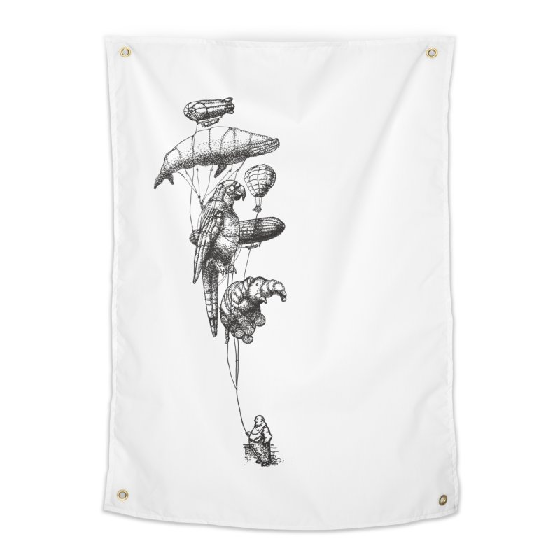 The Balloon Menagerie Home Tapestry by ericfan's Artist Shop