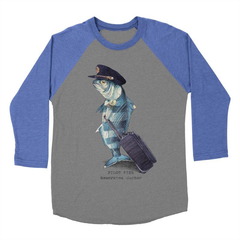 Pilot Fish Women's Baseball Triblend T-Shirt by ericfan's Artist Shop