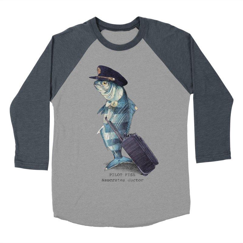 Pilot Fish Men's Baseball Triblend T-Shirt by ericfan's Artist Shop