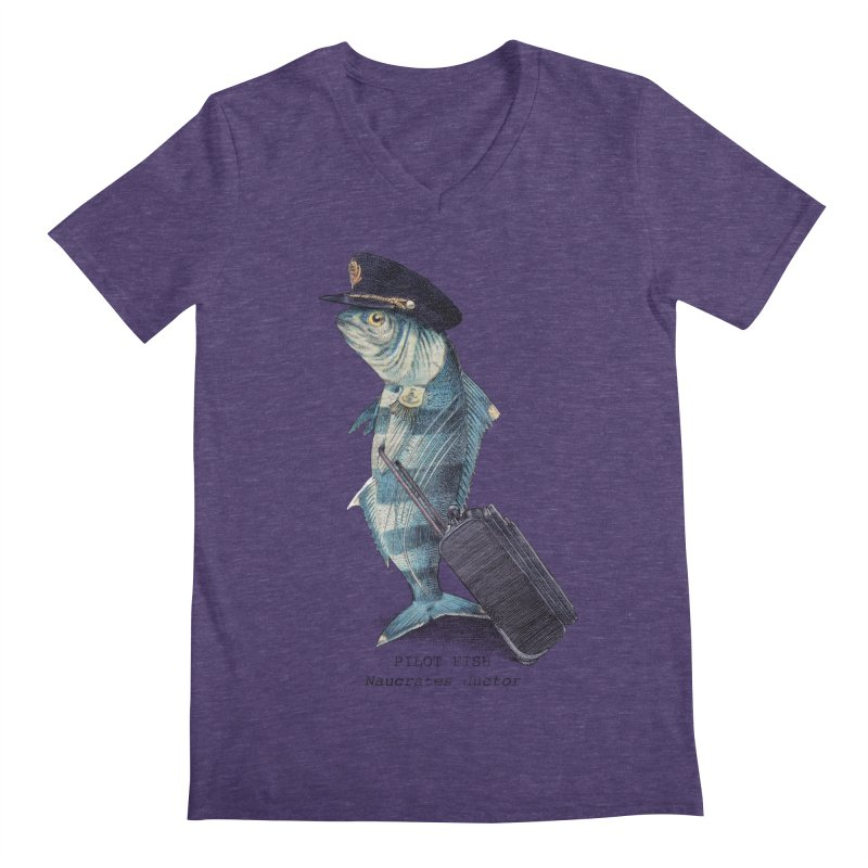 Pilot Fish Men's V-Neck by ericfan's Artist Shop