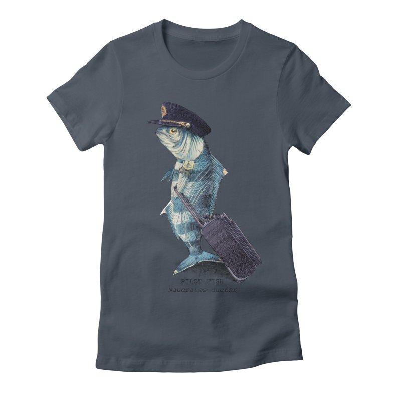 Pilot Fish Women's Fitted T-Shirt by ericfan's Artist Shop