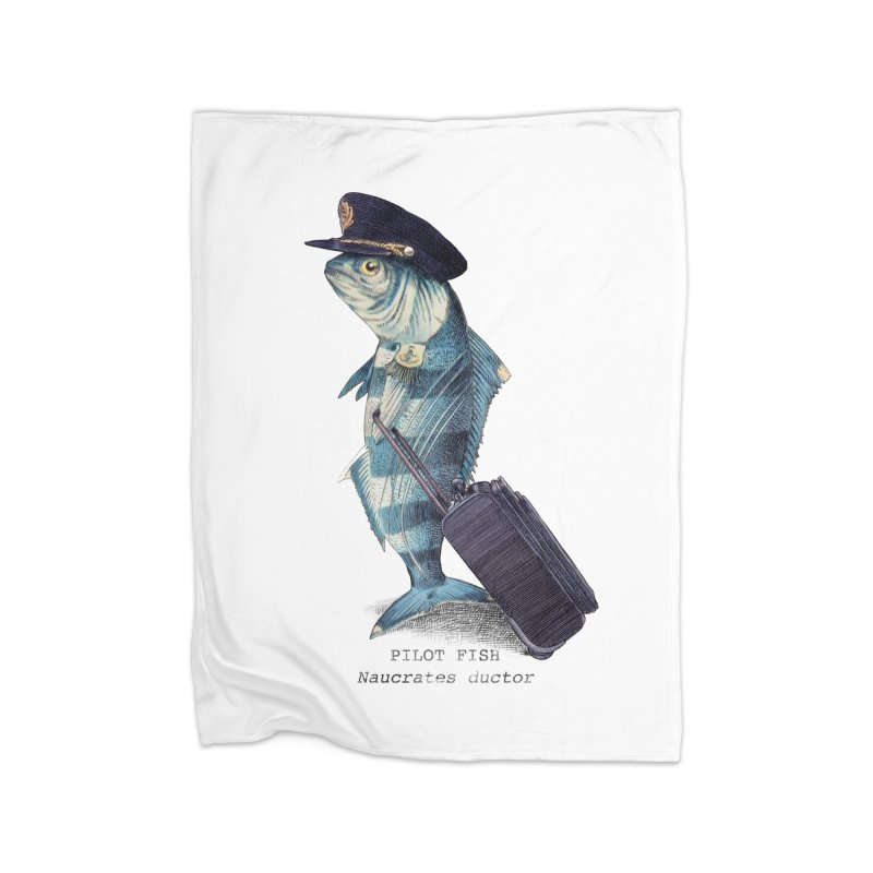Pilot Fish Home Blanket by ericfan's Artist Shop