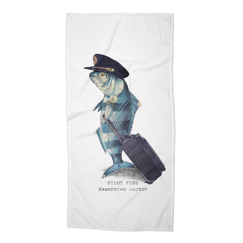 Pilot Fish Accessories Beach Towel by ericfan's Artist Shop