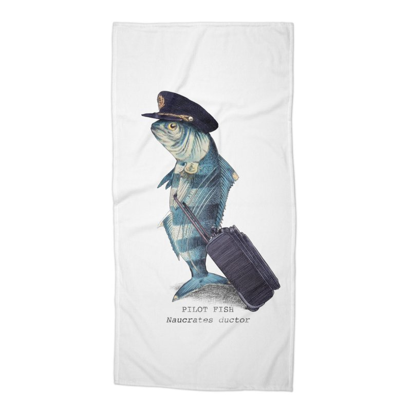 Pilot Fish Accessories Beach Towel by ericfan's Artist Shop