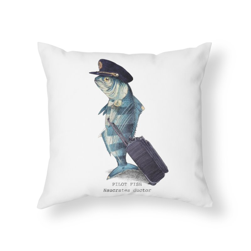 Pilot Fish Home Throw Pillow by ericfan's Artist Shop