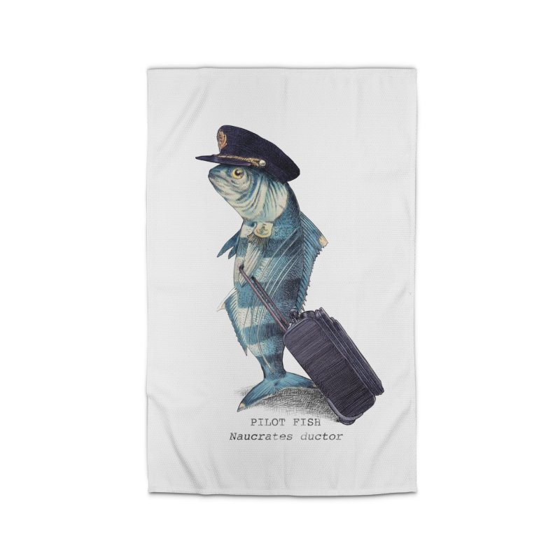 Pilot Fish Home Rug by ericfan's Artist Shop