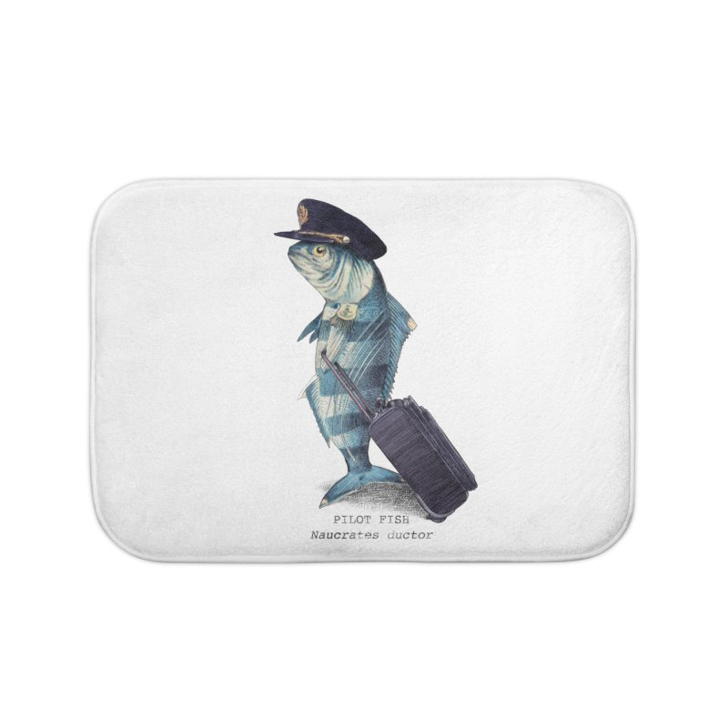 Pilot Fish Home Bath Mat by ericfan's Artist Shop