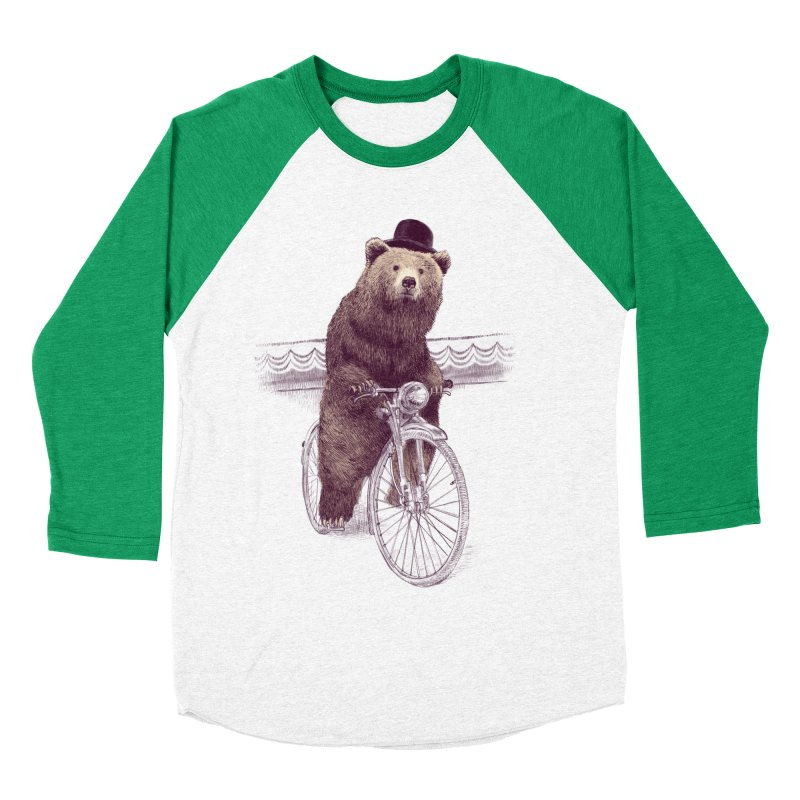 Barnabus the Bear Women's Baseball Triblend T-Shirt by ericfan's Artist Shop