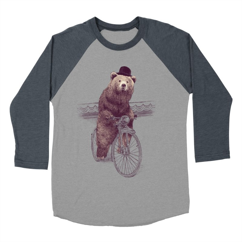 Barnabus the Bear Men's Baseball Triblend T-Shirt by ericfan's Artist Shop