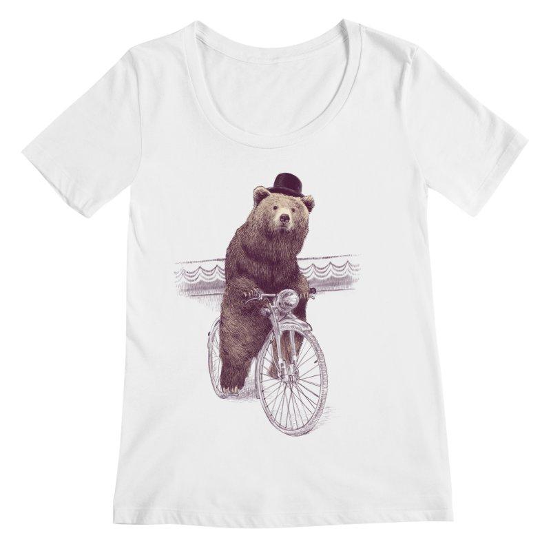 Barnabus the Bear Women's Scoopneck by ericfan's Artist Shop