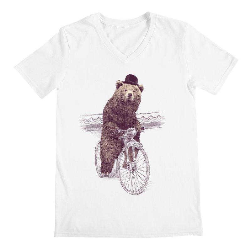 Barnabus the Bear Men's V-Neck by ericfan's Artist Shop