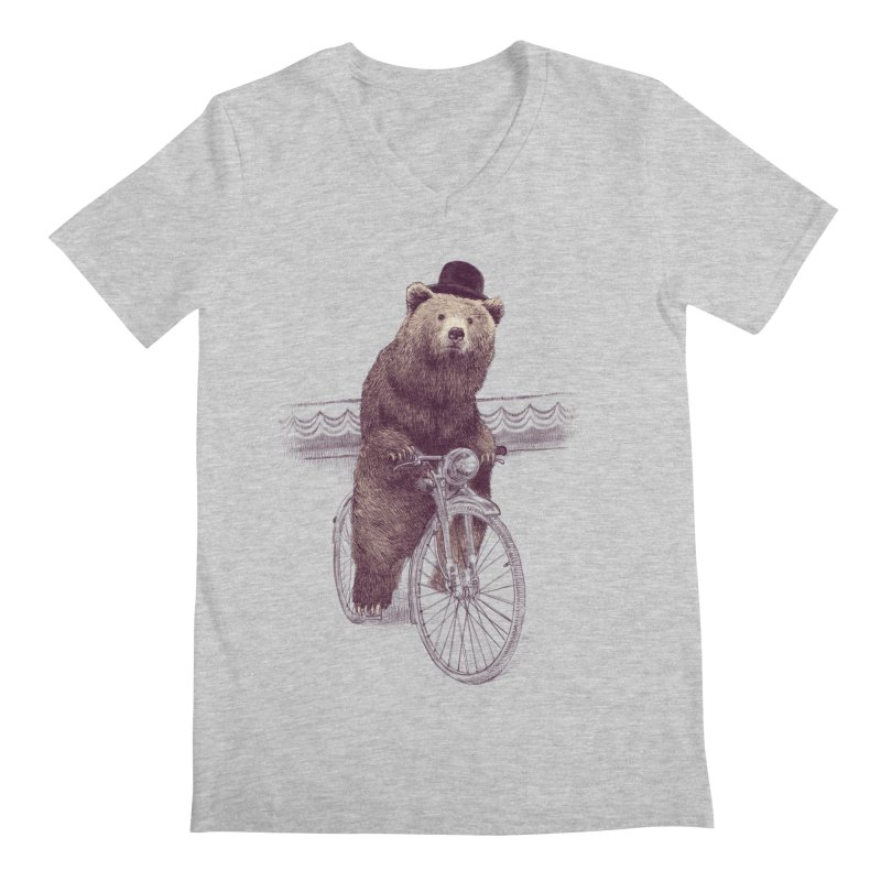 Barnabus the Bear Men's V-Neck by ericfan's Artist Shop