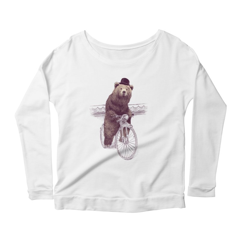 Barnabus the Bear Women's Longsleeve Scoopneck  by ericfan's Artist Shop