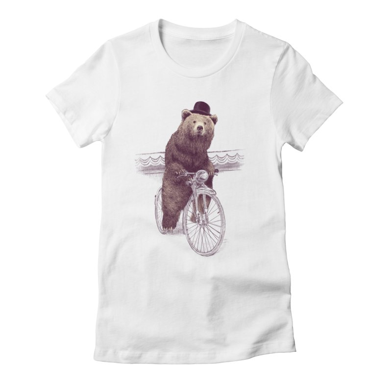 Barnabus the Bear Women's Fitted T-Shirt by ericfan's Artist Shop