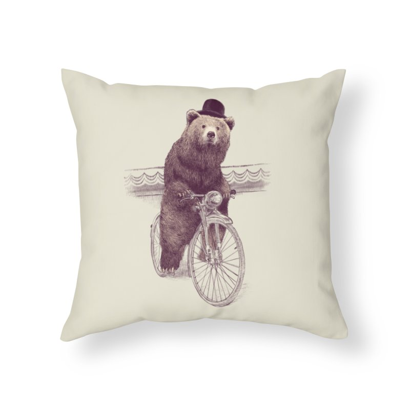 Barnabus the Bear Home Throw Pillow by ericfan's Artist Shop