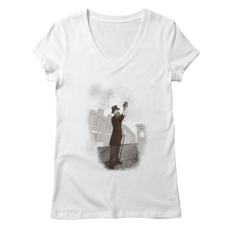 Vintage Selfie Women's V-Neck by ericfan's Artist Shop
