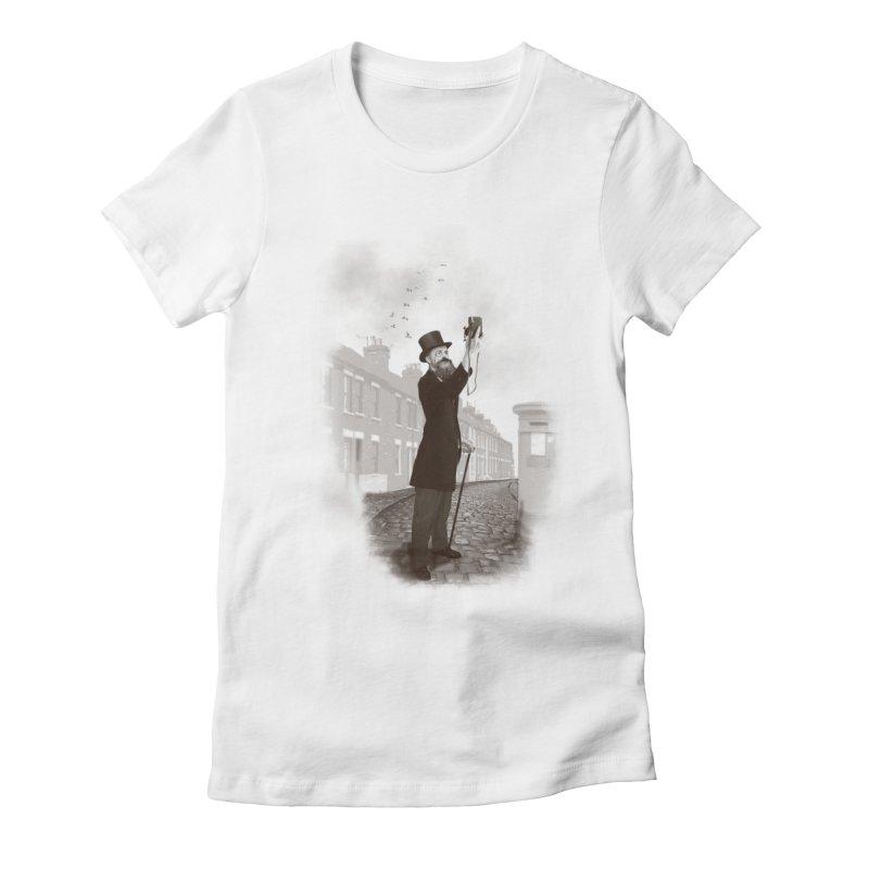 Vintage Selfie Women's Fitted T-Shirt by ericfan's Artist Shop