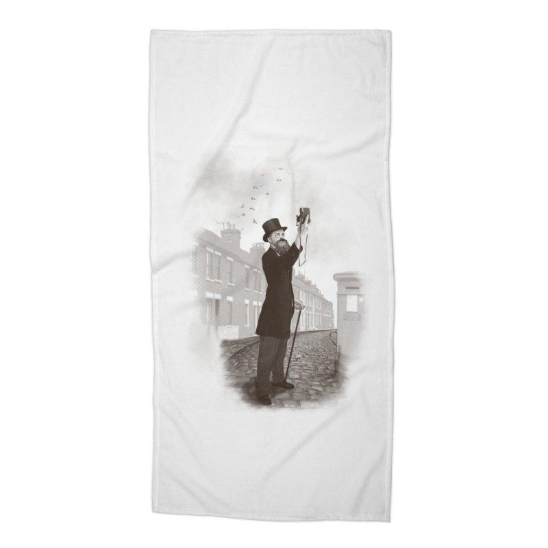 Vintage Selfie Accessories Beach Towel by ericfan's Artist Shop