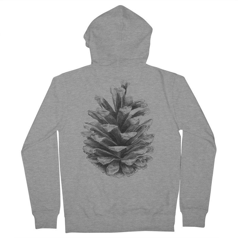 Pine Cone Women's Zip-Up Hoody by ericfan's Artist Shop