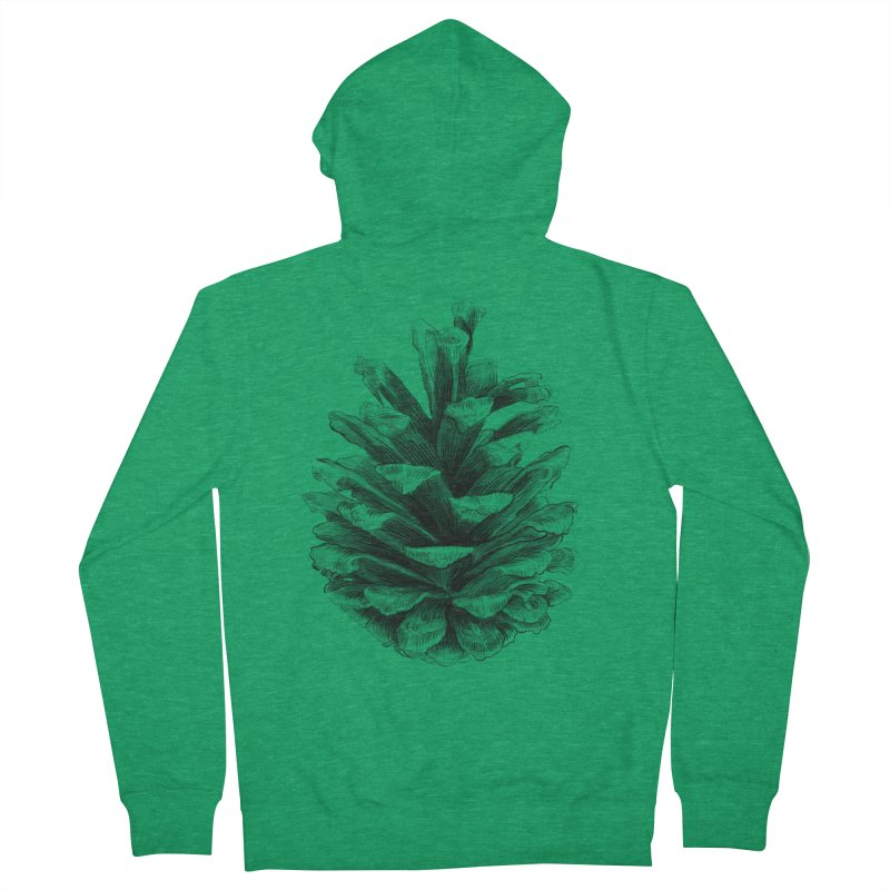 Pine Cone Men's Zip-Up Hoody by ericfan's Artist Shop