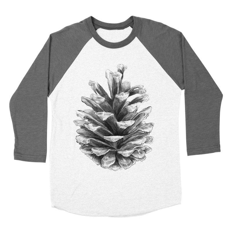 Pine Cone Women's Baseball Triblend T-Shirt by ericfan's Artist Shop