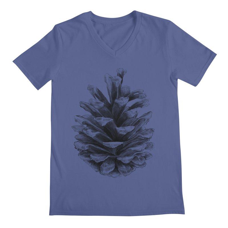 Pine Cone Men's V-Neck by ericfan's Artist Shop