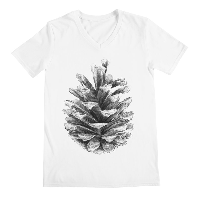 Pine Cone Men's V-Neck by ericfan's Artist Shop