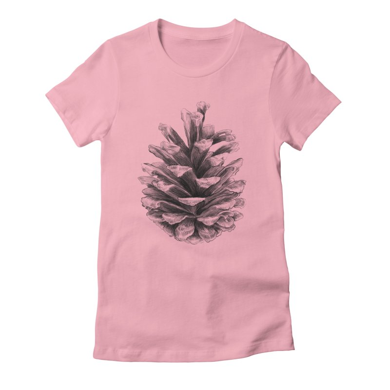 Pine Cone Women's Fitted T-Shirt by ericfan's Artist Shop