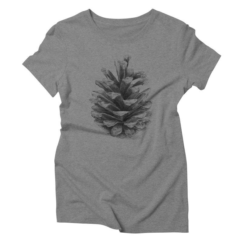 Pine Cone Women's Triblend T-shirt by ericfan's Artist Shop