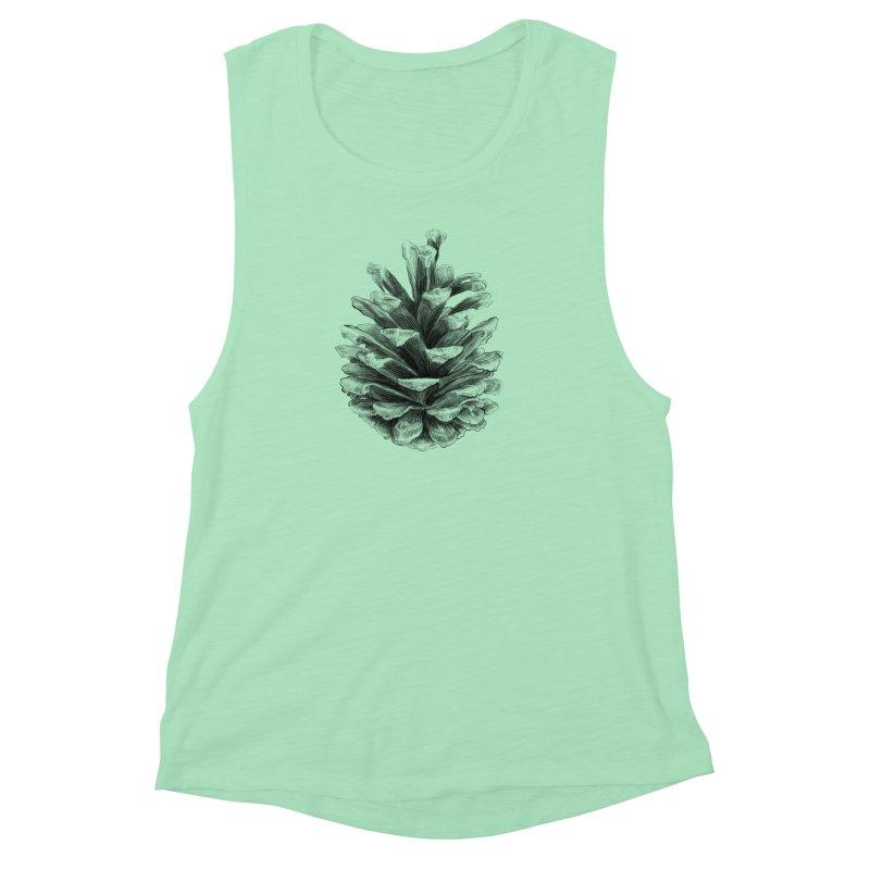Pine Cone Women's Muscle Tank by ericfan's Artist Shop