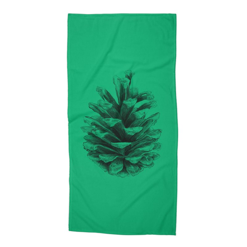 Pine Cone Accessories Beach Towel by ericfan's Artist Shop
