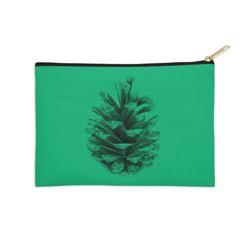 Pine Cone Accessories Zip Pouch by ericfan's Artist Shop